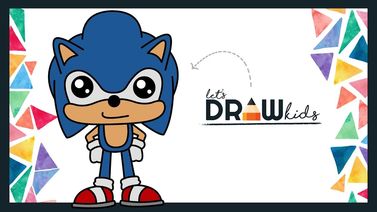 How To Draw Sonic Easy | Sonic Coloring | Sonic Chibi ...