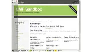 Symfony2 Content Management Framework