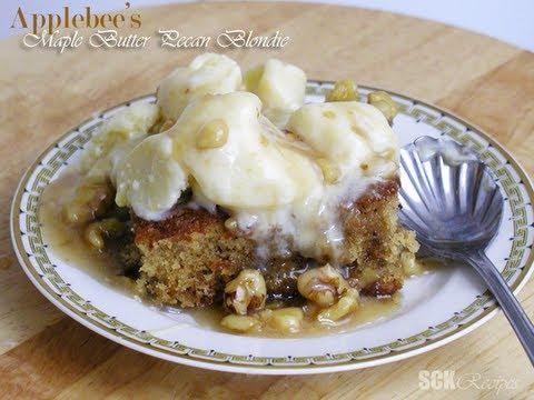 Applebee's Maple Butter Pecan Blondie {copy-cat-recipe}