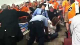 Drunk Devils Fan Tossed Out of Flyers Playoff game