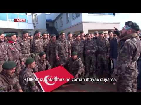 Özel Harekat timi Afrin'e uğurlandı.