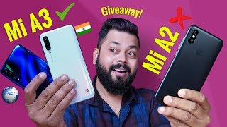 Mi A3 Quick Review ⚡ A B G Upgrade Over Mi A2 G VEAWAY