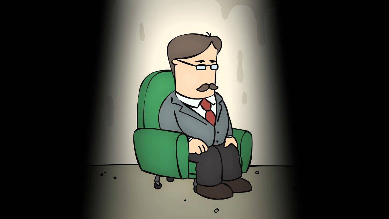 Polchinski nella prima puntata della serie, seduto sulla sua poltrona girevole.