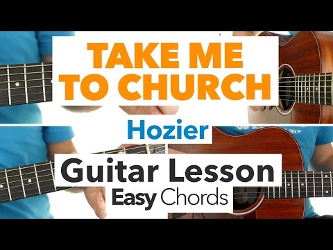 ► Take Me To Church - Hozier ★ GUITAR LESSON ★ EASY CHORDS ★ Free Sheet Music