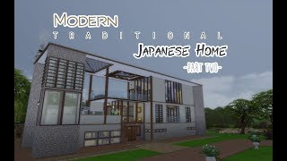 Modern Traditional Japanese Home - SIMS 4 Speed build