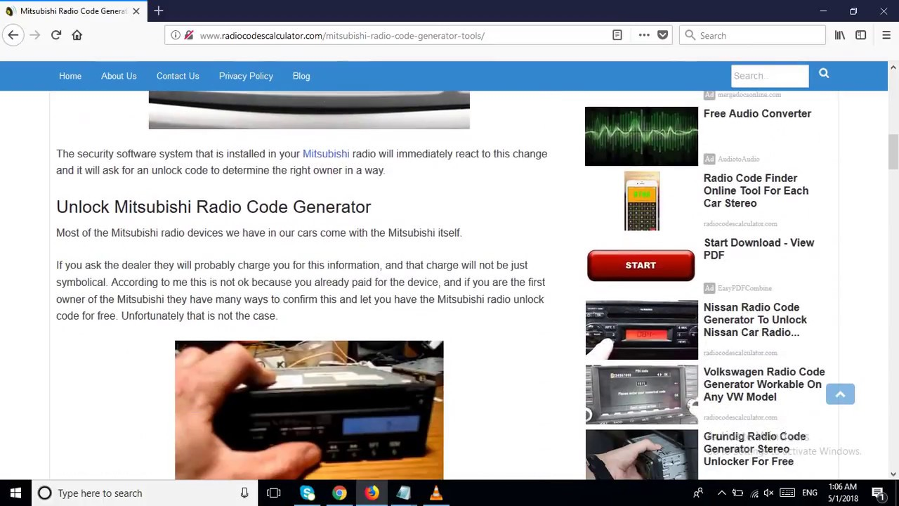 Mitsubishi lancer radio code unlock
