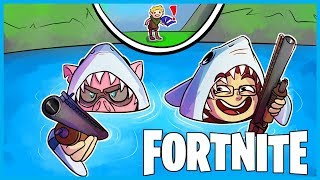 *HILARIOUS* SHARK ATTACK TRAP in Fortnite: Battle Royale! (Fortnite Funny Moments & Fails)