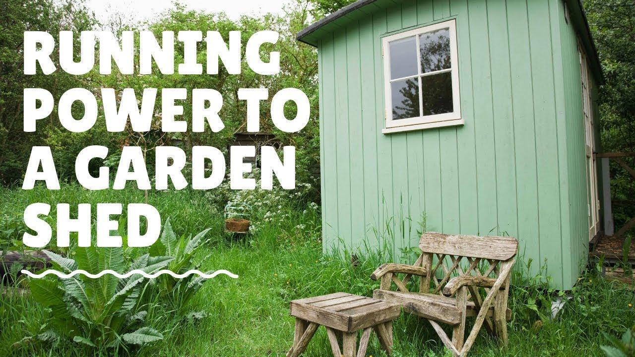 Running Power to a Garden Shed - YouTubeYouTube
