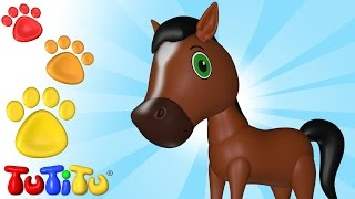 Horse And Other Animals - Learn Animal Names With TuTiTu