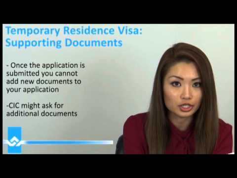 Temporary Resident Visa TRV Supporting Documents