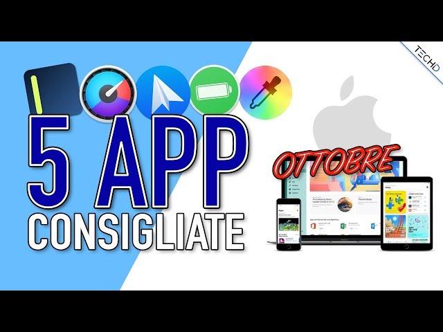 5 APP CONSIGLIATE - Ottobre