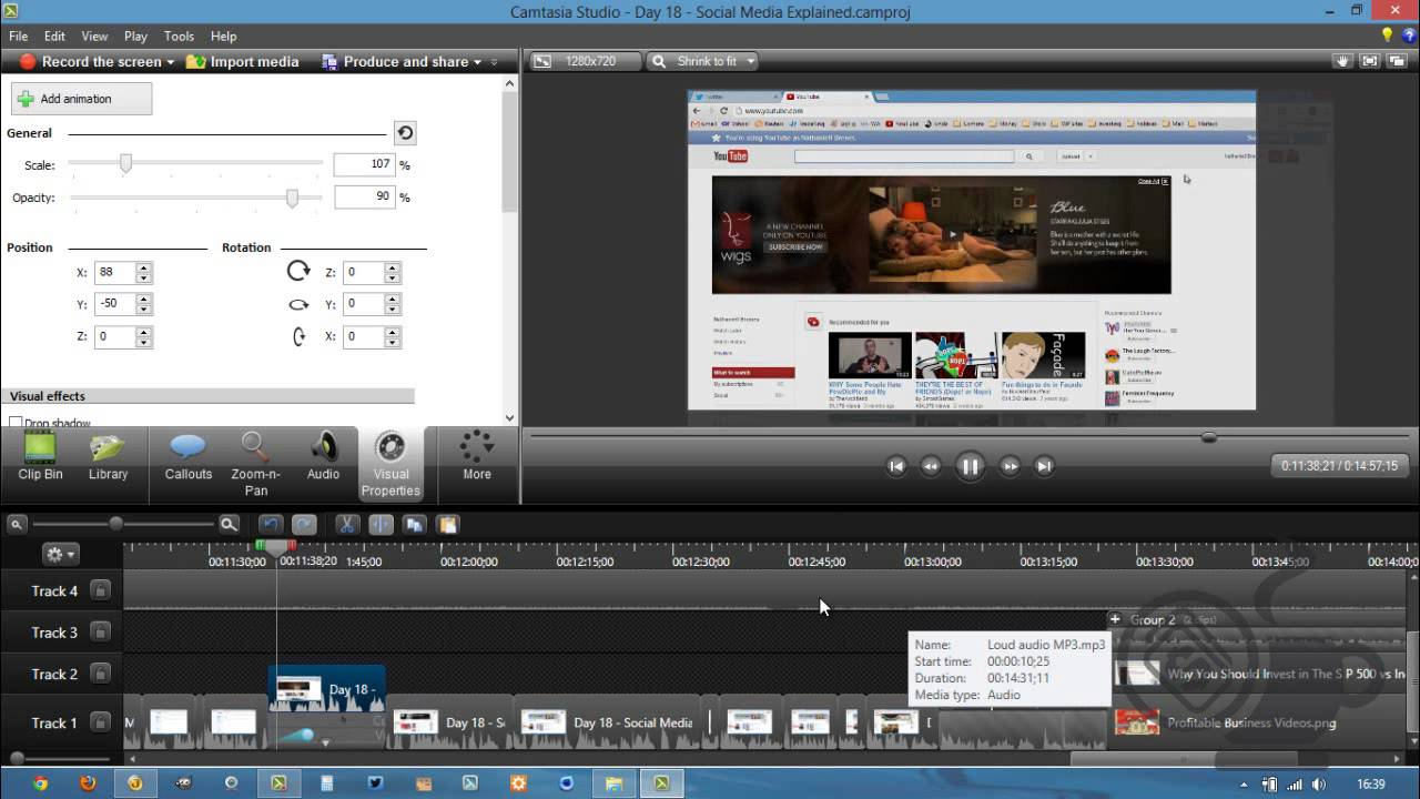 how to keep two videos in sync camtasia