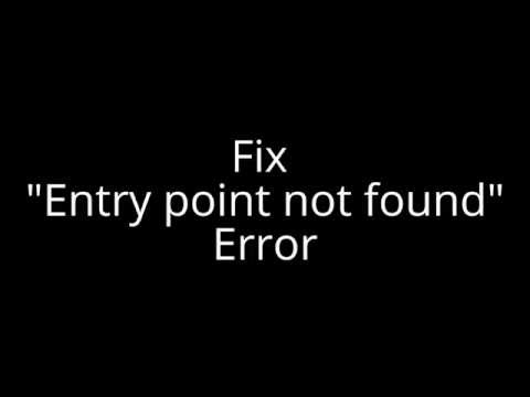 "Fix ""Entry point not found"" Error"