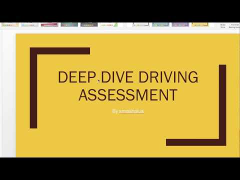 Deep dive driving assessment test for RTA dubai driving test