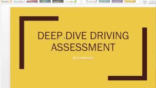 Deep dive driving assessment test for RTA dubai driving test