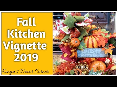 Tuscan Style Fall Decorate With Me | Tiered Tray | Fall Kitchen Vignette 2019