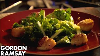 How To Cook Scallops And Crunchy Apple Salad - Gordon Ramsay