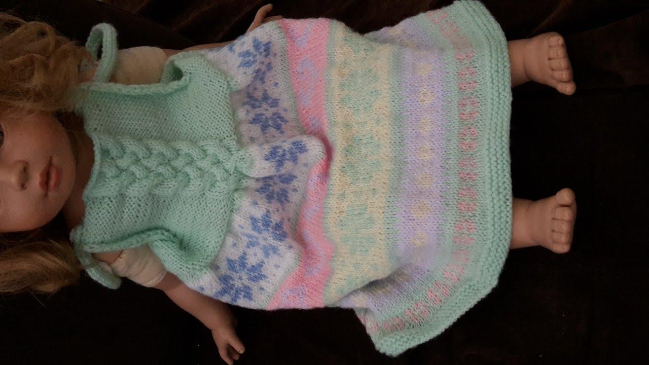 2a8aa8a40a5ef Tricot facile: Robe bébé à bretelles de 3 à 24 mois