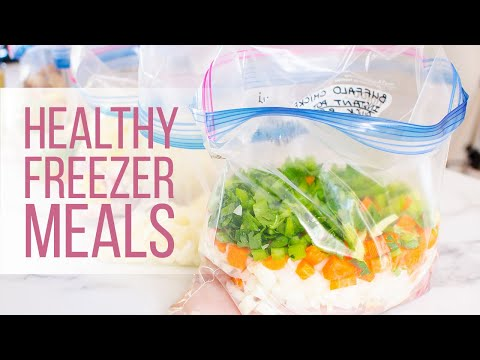 How To Prepare 5 Healthy Freezer Meals | Instant Pot And Slow Cooker Recipes