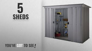 Top 10 Sheds [2018]: Yardmaster International 64PZ 6 x 4ft Store-All Silver Pent Roofed Metal Shed
