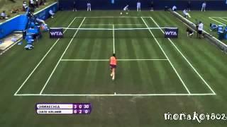 テニスクルム伊達公子vsオルマエチェア AEGONクラシック 1回戦
