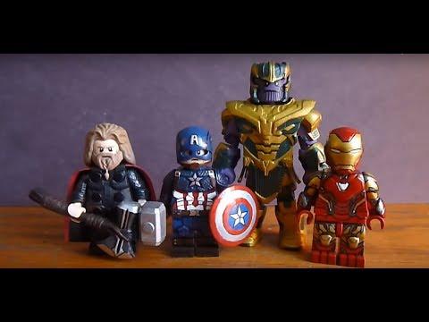 Custom Lego Avengers Endgame Minifigures: Captain America, Thor, And Iron Man Mark 85