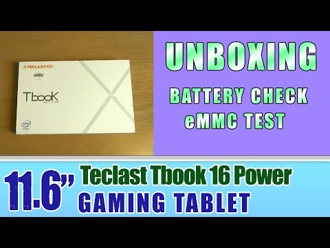 Unboxing 11.6'' Teclast Tbook 16 Power Gaming Tablet Intel Atom X7-Z8750 8GB RAM Intel HD Graphic