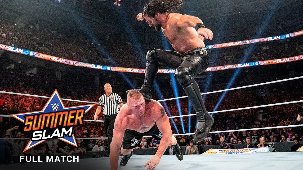 Download FULL MATCH: Brock Lesnar vs. Seth Rollins - Universal Title Match: SummerSlam 2019