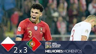 POLÔNIA 2 X 3 PORTUGAL - MELHORES MOMENTOS - UEFA NATIONS LEAGUE (11/10/2018)