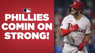 Phillies ride big weekend from Bryce Harper, Zack Wheeler vs Mets into 1st place in NL East!