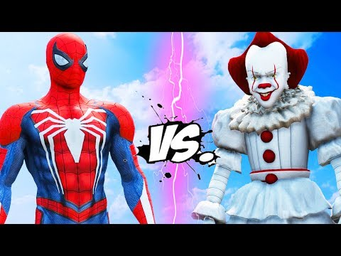 SPIDER-MAN vs PENNYWISE (IT) - Epic Battle