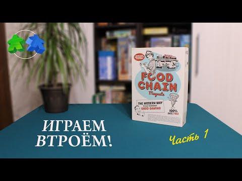 Играем в настольную игру Food Chain Magnate. Часть 1 из 2. Food Chain Magnate Board Game Let's Play