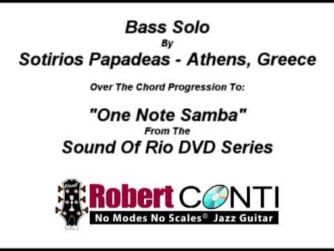 One Note Samba - Sotiris Papadeas (Bass)
