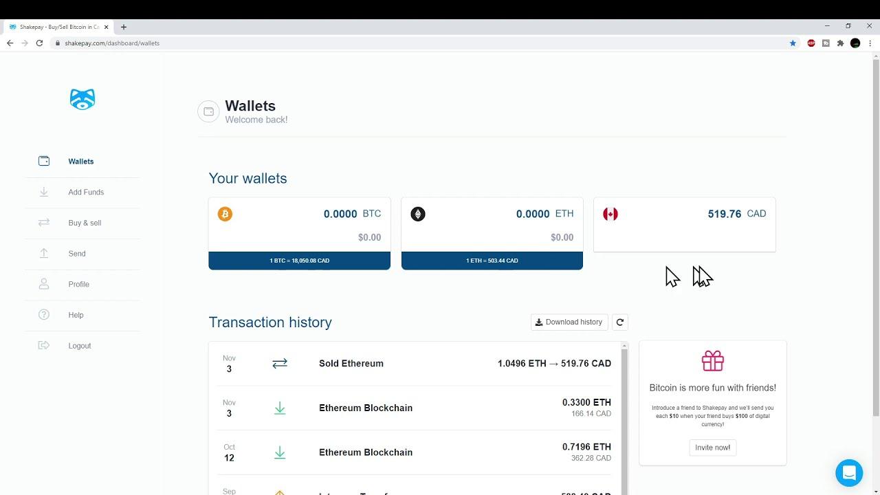 cash out bitcoins canada