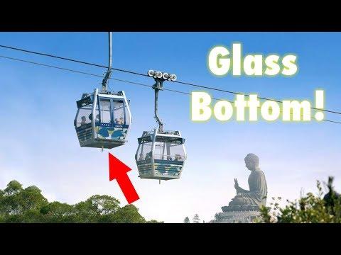 GLASS BOTTOM CABLE CAR OVER HONG KONG!