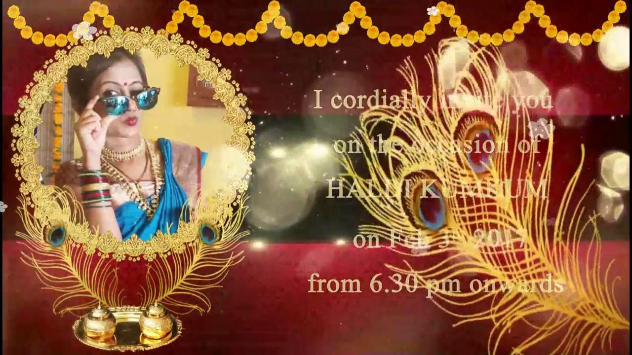 Haldhi Kumkum Invitation YouTube