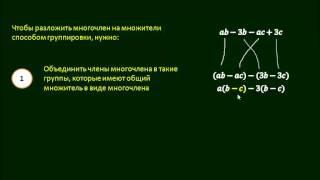 6 4  Разложение многочленов на множители