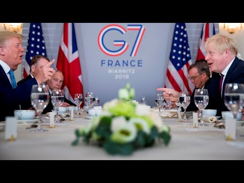 Johnson, Trump meet at G7 summit