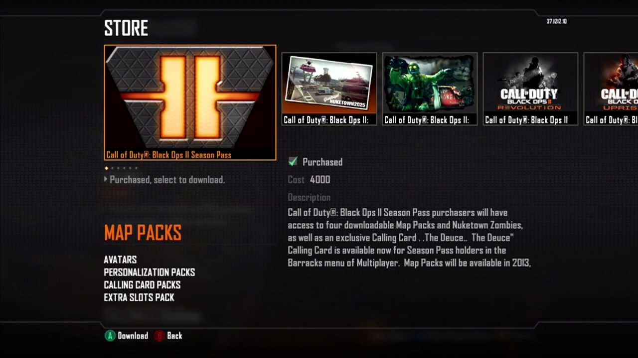 black ops 2 dlc maps xbox 360 download