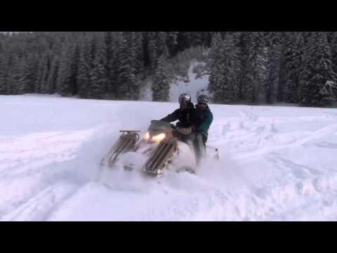 SAND-X T-ATV 1200 All Terrain vehicle on deep snow