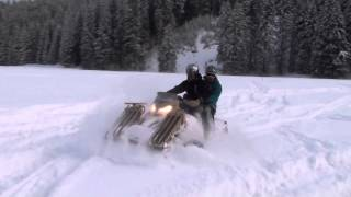 SAND-X T-ATV 1200 All Terrain vehicle on deep snow