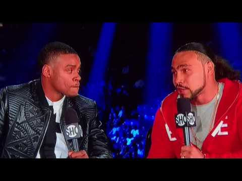 ERROL SPENCE AND KEITH THURMAN FACE TO FACE INTERVIEW ON SHOBOX!