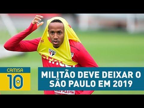 Vai pro CITY? MILITÃO deve DEIXAR o São Paulo em 2019!