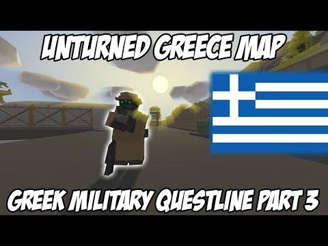 Unturned Greece Quest Guides:Greek Military Questline Part 3