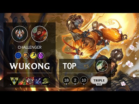 Wukong Top vs Riven - EUW Challenger Patch 10.14