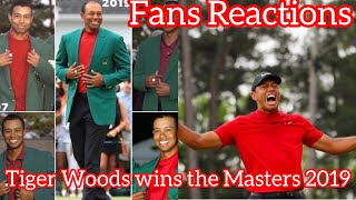 Fans Reactions: Tiger Woods wins the Masters 2019 | The GOAT | 15th Major