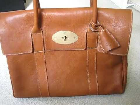 79040b292b Mulberry Bayswater bag in oak - review and what fits inside - YouTube