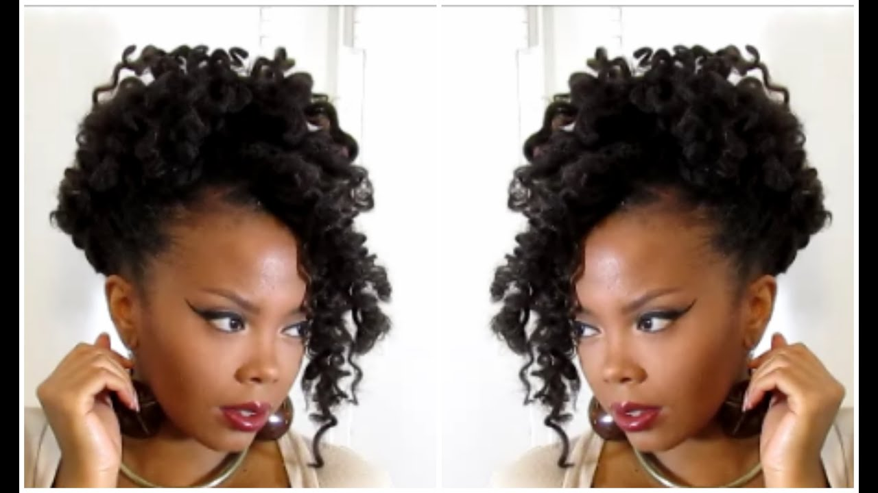 Crochet Braids Updo : Crochet Braids Updo How to wear your marley crochet braids in a ...