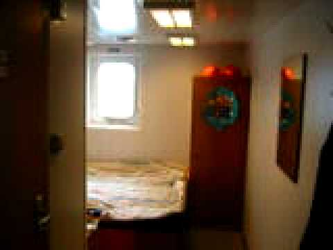 Passenger Cabin Aboard Freighter Container Ship Crossing