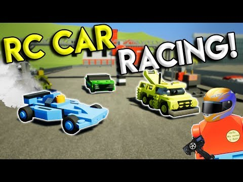 LEGO RC CAR RACE CHALLENGE! -  Brick Rigs Multiplayer Gameplay - Mini Remote Control Toy Race